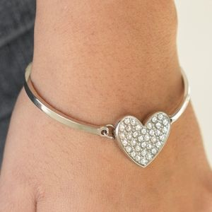 """""""Heart-Stopping Shimmer""""-Rhinestone Heart Bracelet"""